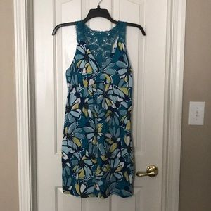 Multi colored sundress with Lacey straps